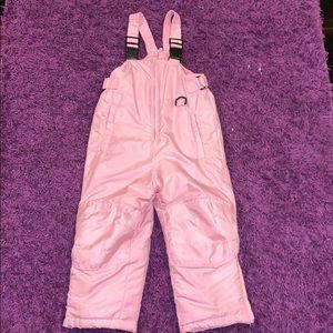 Girls Pink Snow Jumper Overalls